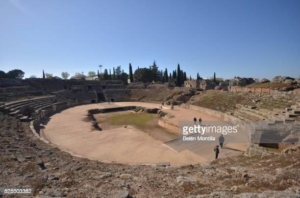 amphitheater of mérida - extremadura fotografías e imágenes de stock