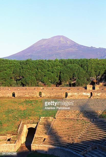 Amphitheater of Pompeii and Mount Vesuvius