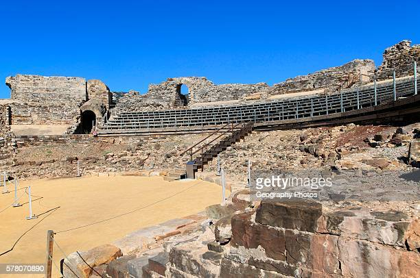 Amphitheatre at Baelo Claudia Roman site Cadiz province Spain
