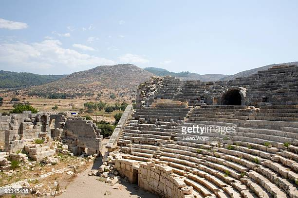 amphitheatre in patara, turkey - antalya stock-fotos und bilder