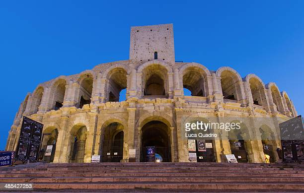 amphitheatre of arles - amphitheatre stock photos and pictures