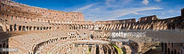 amphitheatre of the coliseum rome - inside the roman colosseum stock photos and pictures