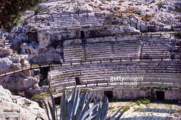 L'amphitheatre romain de Cagliari en Sardaigne Italie