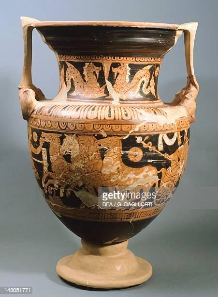 Amphora depicting Vanth Redfigure pottery Etruscan Civilisation 4th Century BC Orvieto Museo Claudio Faina