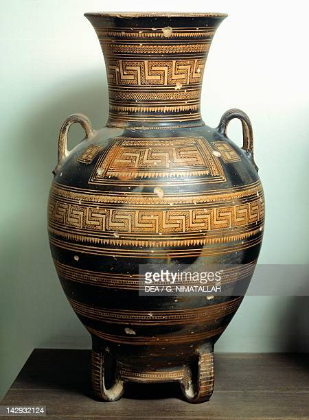 Amphora geometricstyle pottery Greece Greek Civilization 8th Century BC Athens Ethnikó Arheologikó Moussío