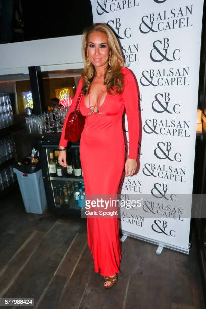 Ampika Pickston attends the Balsan and Chapel menswear preview at Neighborhood At The Avenue on November 23 2017 in Manchester England