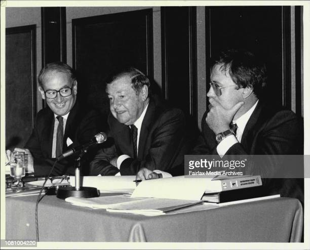 Ampol Extraordinary General Meeting at Sheraton HotelRichard Fisher Tim Walsh Ted Harris March 18 1987