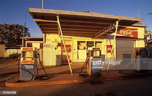 Ampol petrol station Menindee far western New South Wales Australia