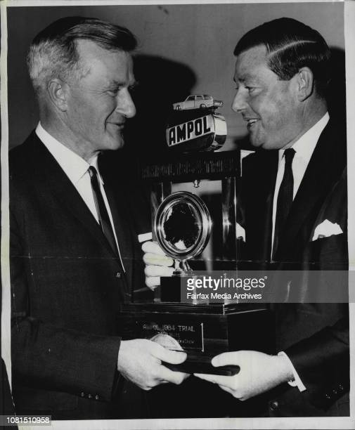 Ampol Trial Trophy Presented The 1964 Ampol Trial trophies were presented at a ceremony at Grace Bros Broadway tonight The first prize for the...