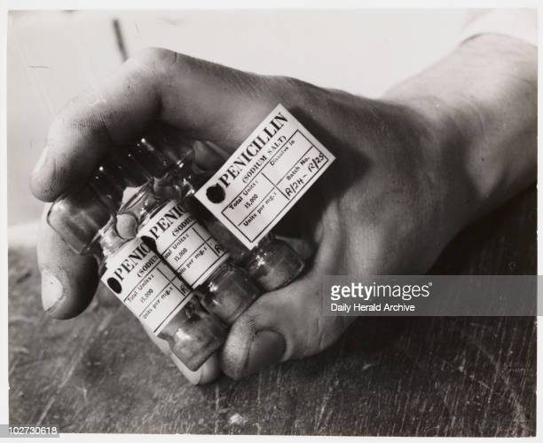 Ampoules of penicillin 1943 Three glass ampoules of penicillin taken by James Jarche for Illustrated magazine in 1943 Each small glass bottle or...