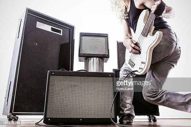 Amps and Bass Guitar Player