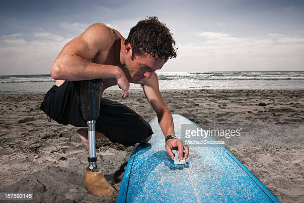 Amputiert Surfer