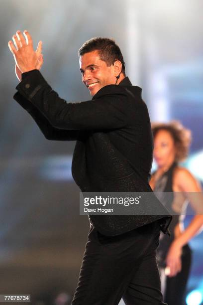 Amr Diab performs on stage at at the World Music Awards 2007 at the Monte Carlo Sporting Club on November 4 2007 in Monte Carlo Monaco