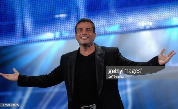 Amr Diab who won the award for Best Selling Middle Eastern Artist during the 2007 World Music Awards held at the Monte Carlo Sporting Club on...