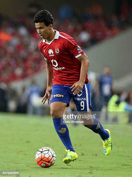 Amr Gamal of Al Ahly during the friendly match between Al Ahly and AS Roma on May 20 2016 in Al Ain United Arab Emirates