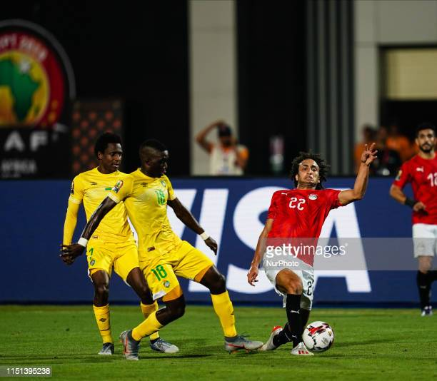 Amr Medhat Mohsen Warda of Egypt and Marvellous Nakamba of Zimbabwe G0 during the African Cup of Nations match between Egypt and Zimbabwe at the...