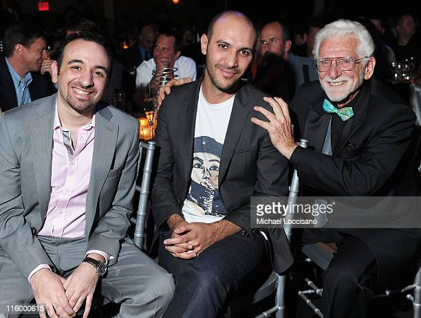 Amr Salama Muhamed Diab and Martin Cooper attend the 15th Annual Webby Awards at Hammerstein Ballroom on June 13 2011 in New York City