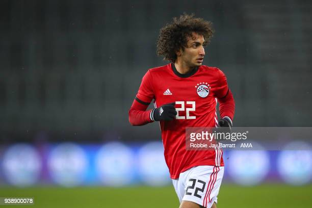 Amr Warda of Egypt during the International Friendly match between Egypt and Greece at Stadion Letzigrund at Letzigrund on March 27 2018 in Zurich...