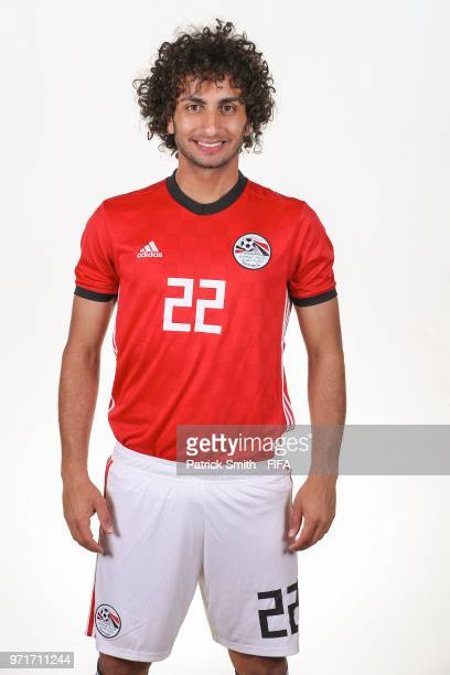 Amr Warda of Egypt poses for a portrait during the official FIFA World Cup 2018 portrait session at The Local Hotel on June 11 2018 in Gronzy Russia