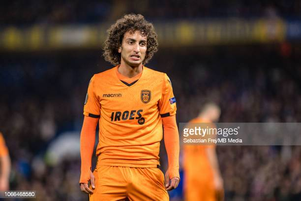 Amr Warda of PAOK looks on during the UEFA Europa League Group L match between Chelsea and PAOK at Stamford Bridge on November 29 2018 in London...