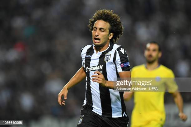 Amr Warda  of PAOK reacts during the UEFA Europa League Group L match between PAOK and Chelsea at Toumba Stadium on September 20 2018 in Thessaloniki...