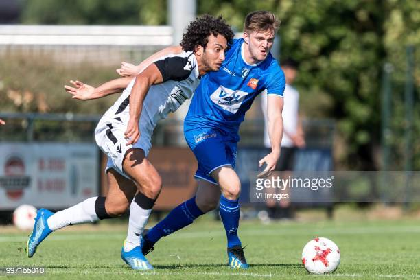 Amr Warda of Paok Saloniki Thomas Foket of KAA Gent during the friendly match between PAOK Saloniki and KAA Gent at sportcomplex Schuytgraaf on July...