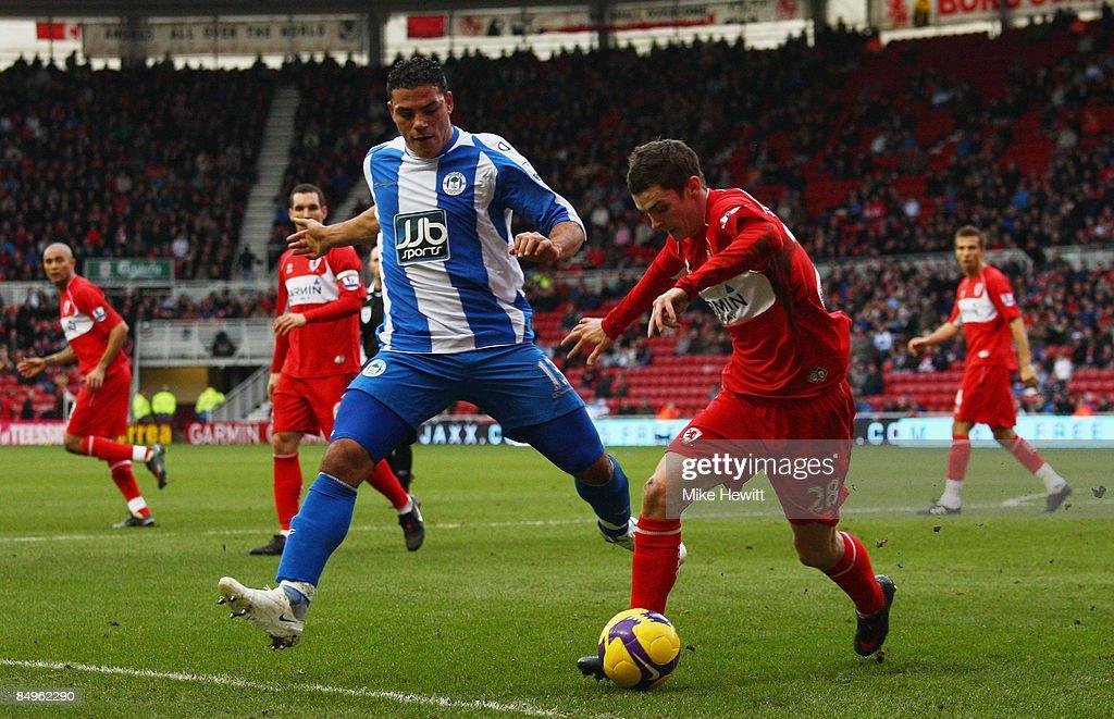 Middlesbrough v Wigan Athletic - Premier League : News Photo