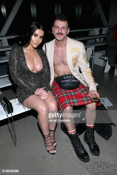 Amra Olevic and Sammy M attends The Blonds front row during New York Fashion Week The Shows at Gallery I at Spring Studios on February 13 2018 in New...