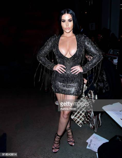 Amra Olevic attends The Blonds Runway show during New York Fashion Week at Spring Studios on February 13 2018 in New York City