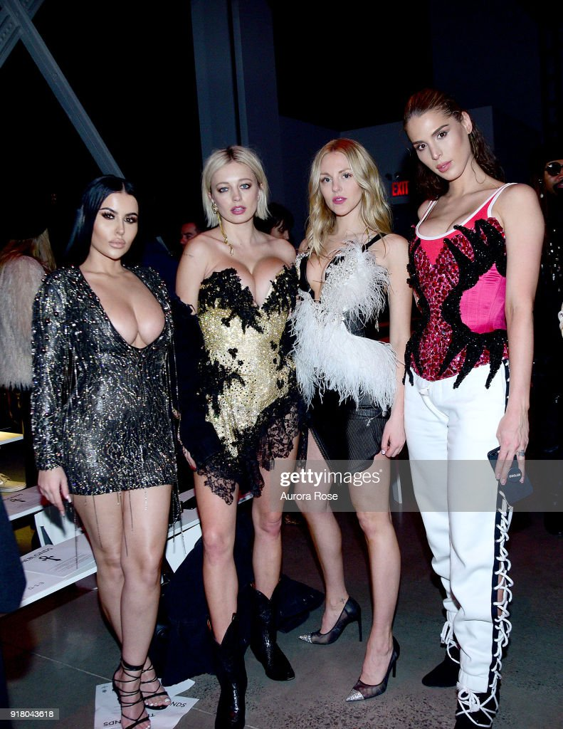 Amra Olevic, Caroline Vreeland, Shay Marie, and Carmen Carrera attend The Blonds Runway show during New York Fashion Week at Spring Studios on February 13, 2018 in New York City.