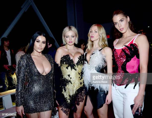 Amra Olevic Caroline Vreeland Shay Marie and Carmen Carrera attend The Blonds Runway show during New York Fashion Week at Spring Studios on February...