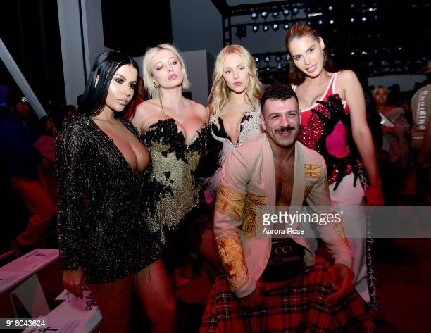 Amra Olevic Caroline Vreeland Shay Marie Sammy M and Carmen Carrera attend The Blonds Runway show during New York Fashion Week at Spring Studios on...