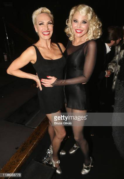 """Amra-Faye Wright as """"Velma Kelly"""" and Christie Brinkley as """"Roxie Hart"""" pose backstage as Christie Brinkley returns to the hit musical """"Chicago"""" on..."""