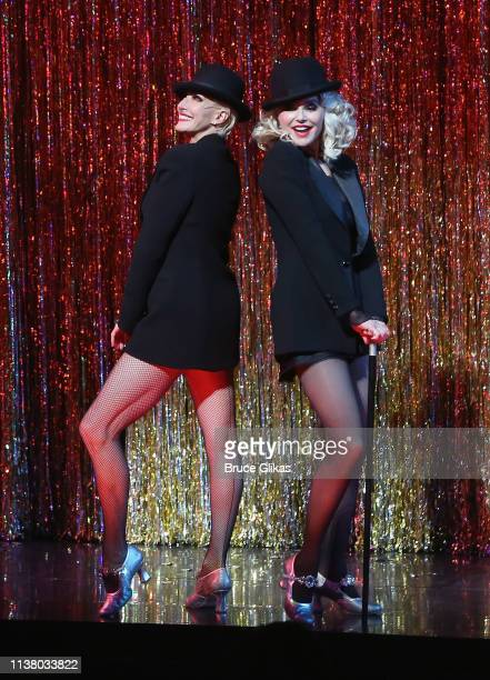 """Amra-Faye Wright as """"Velma Kelly"""" and Christie Brinkley as """"Roxie Hart"""" during the curtain call as Christie Brinkley returns to the hit musical..."""