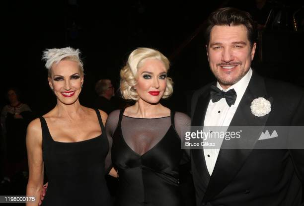 """Amra-Faye Wright as """"Velma Kelly"""", Erika Jayne as """"Roxie Hart"""" and Paulo Szot as """"Billy Flynn"""" pose backstage at the hit musical """"Chicago"""" on..."""