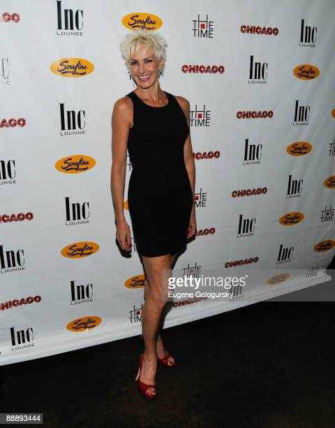 """Amra-Faye Wright attends the after party for Samantha Harris' debut as Roxie Hart in """"Chicago"""" on Broadway at Inc. Lounge on July 7, 2009 in New York..."""