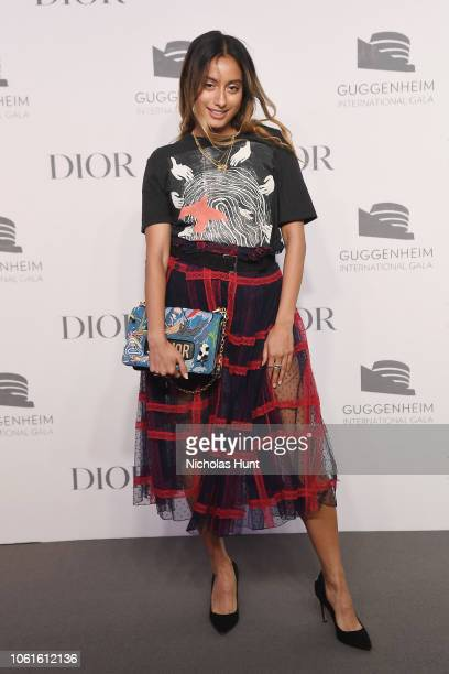 Amrit attends the 2018 Guggenheim International Gala Pre-Party made possible by Dior at Solomon R. Guggenheim Museum on November 14, 2018 in New York...