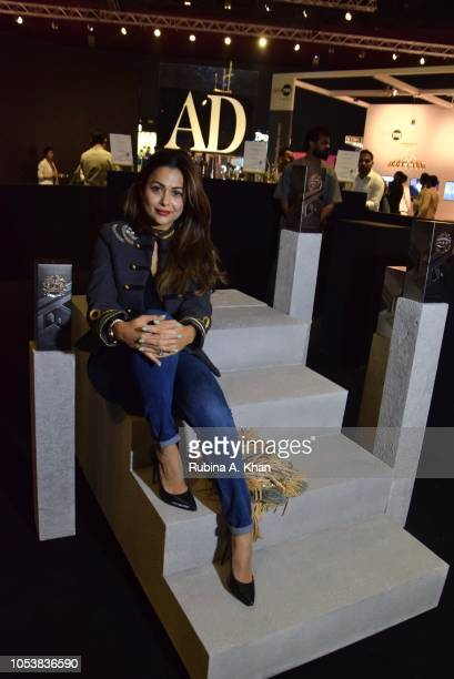 Amrita Arora at the launch of Chivas Regal India's limited edition festive pack designed by Ashiesh Shah at Dome on October 26 2018 in Mumbai India