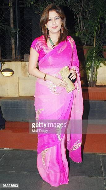 Amrita Raichand at the sangeet ceremony of Bollywood actress Isha Kopikkar in Mumbai on Friday November 27 2009