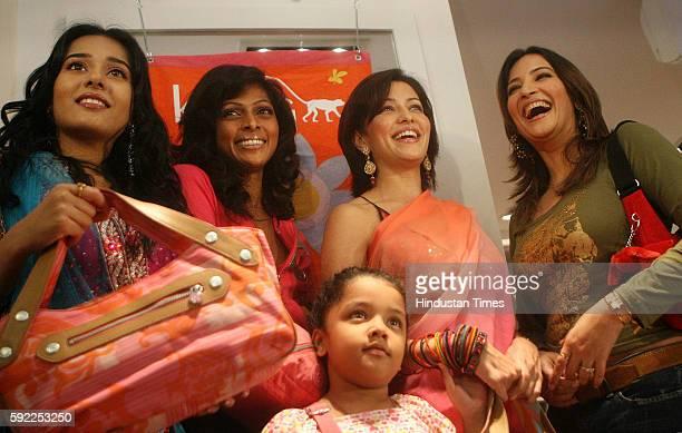 Amrita Rao model Nina Manuel Aditi Govitrikar and Rakshanda Khan at launch of Kipling shop at Linking Road
