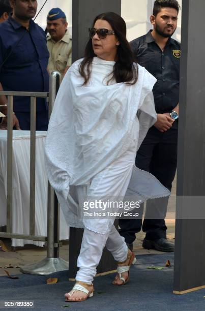 Amrita Singh arrives at Celebration Sports Club to pay last respects to Sridevi in Mumbai