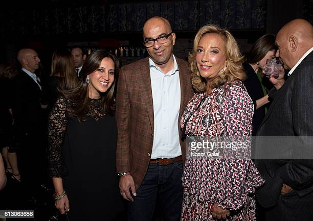 Amrita Singh Sam Bhatia and Denise Rich attend The Angel Ball 2016 launch party at TAO Downtown on October 6 2016 in New York City
