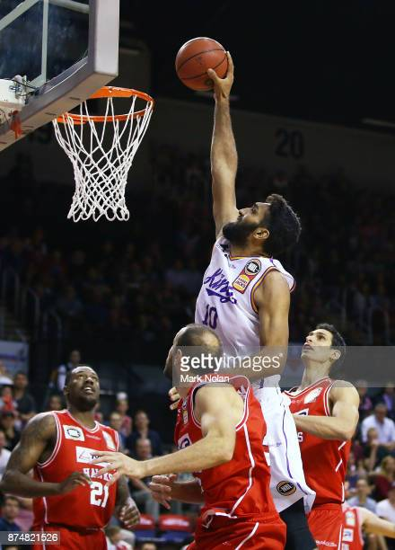 Amritpal Singh of the Kings drives to the basket during the round seven NBL match between the Illawarra Hawks and the Sydney Kings at Wollongong...