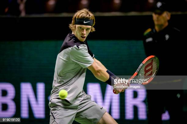Amro WTT Andrey Rublev during the ABN Amro World Tennis Tournament at the Rotterdam Ahoy on February 16 2018 in Rotterdam Netherlands