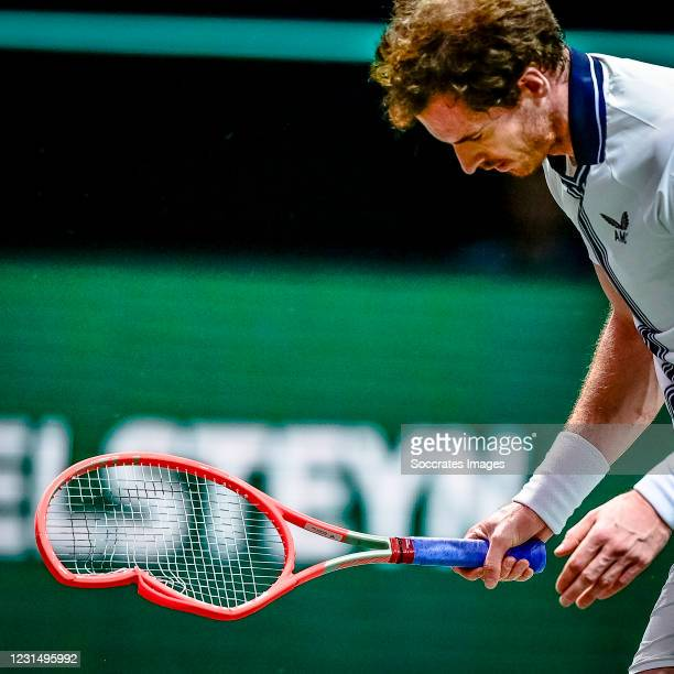 Amro WTT Andy MURRAY during the ABN Amro WTT at the Ahoy Rotterdam on March 3, 2021 in Rotterdam Netherlands