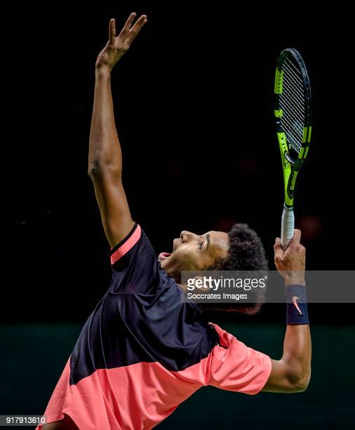 Amro WTT Felix AugerAliassime during the ABN Amro World Tennis Tournament at the Rotterdam Ahoy on February 13 2018 in Rotterdam Netherlands