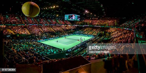 Amro WTT general view Ahoy Rotterdam during the ABN Amro World Tennis Tournament at the Rotterdam Ahoy on February 15, 2018 in Rotterdam Netherlands