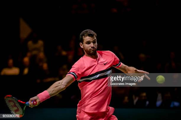 Amro WTT Grigor Dimitrov during the ABN Amro World Tennis Tournament at the Rotterdam Ahoy on February 18 2018 in Rotterdam Netherlands