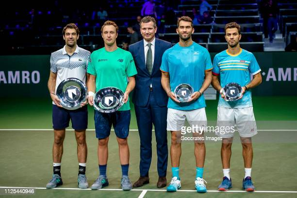 Amro WTT Jeremy CHARDY, Henri KONTINEN, Richard Krajicek, Jean-Julien ROJER, Horia TECAU during the ABN AMRO World Tennis Tournament at the Ahoy...