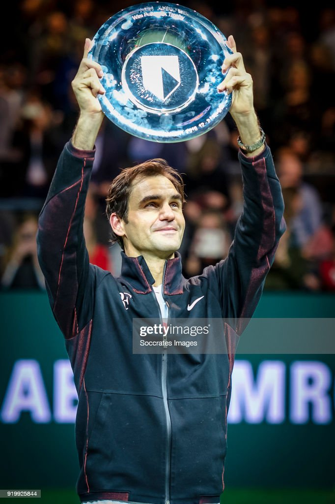ABN Amro WTT Roger Federer during the ABN Amro World Tennis Tournament at the Rotterdam Ahoy on February 18, 2018 in Rotterdam Netherlands